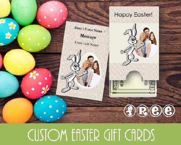 Easter gift card template