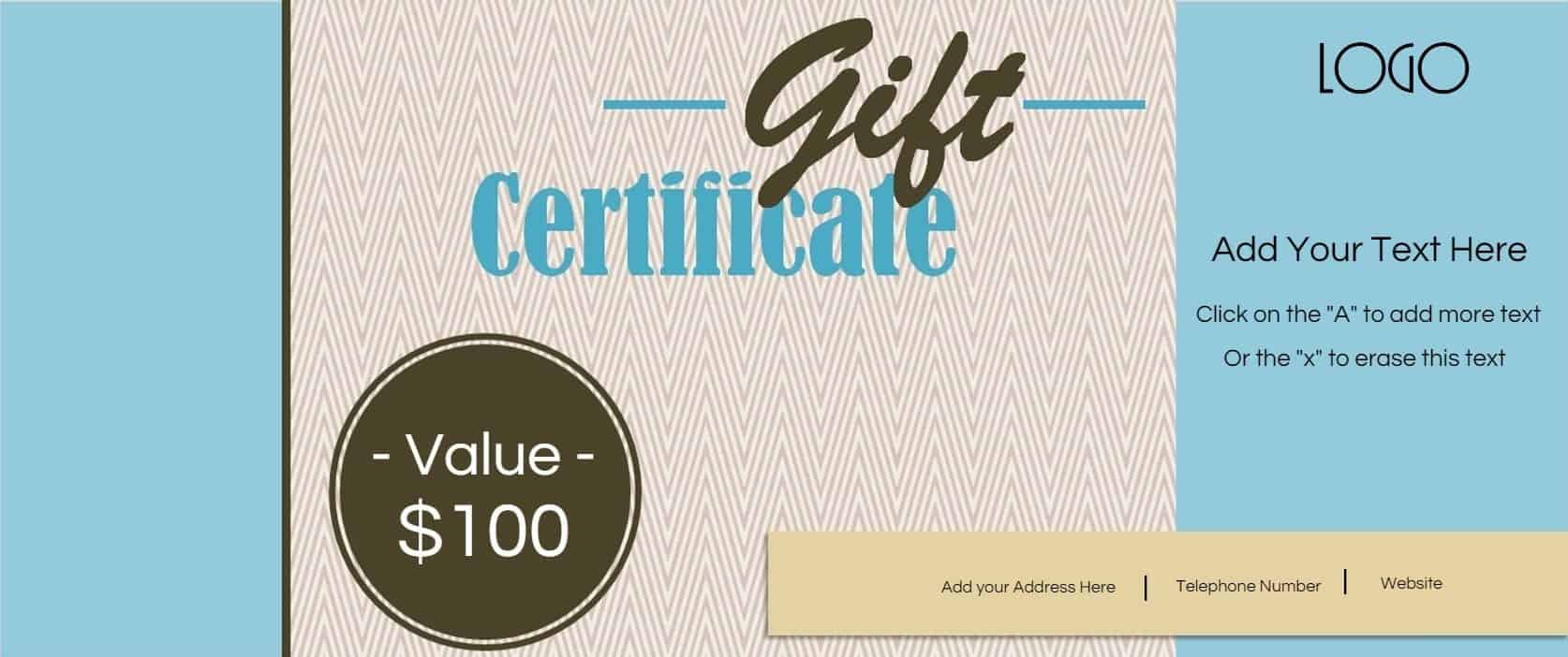 Gift certificate template with logo customize print yadclub Choice Image