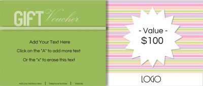 Stripes in different shades of pastel colors with text that can be personalised.