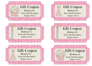 Birthday Coupon Book