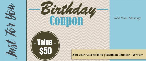 Free printable birthday coupon
