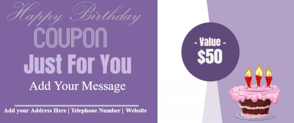 Happy birthday coupon
