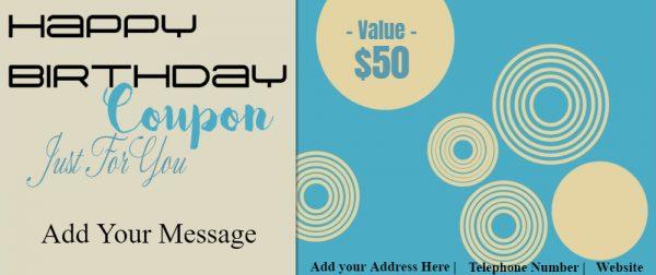 Make a birthday coupon