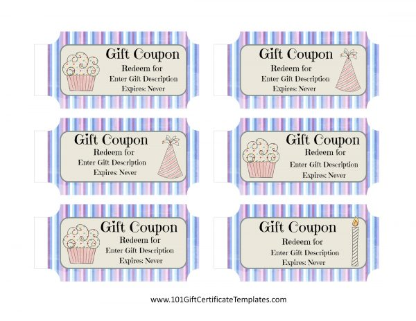 Free Birthday Coupon Template Customize Online Print At Home