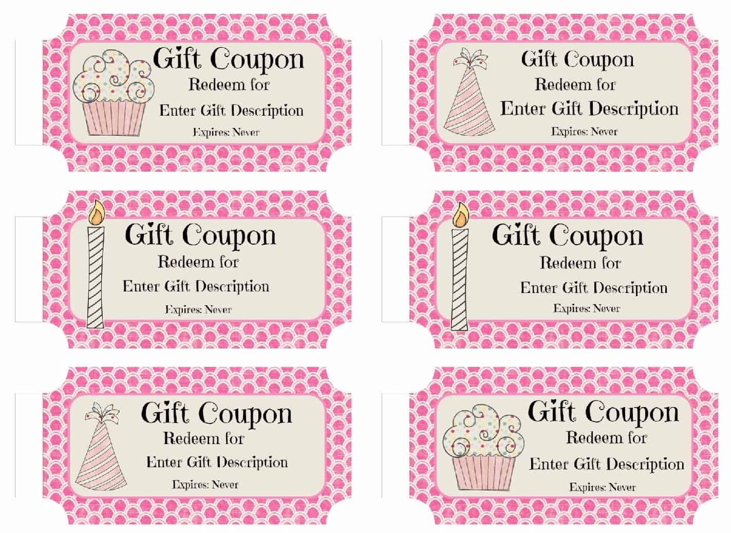 Perfect Birthday Coupons Throughout Birthday Coupon Templates Free Printable