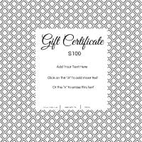 Template for gift certificate
