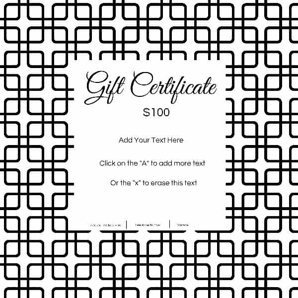 Gift Certificate Template with Customizable Background and ...