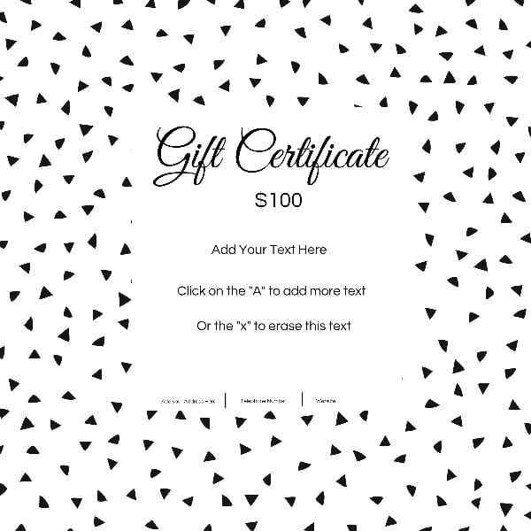 Gift Certificate Template With Customizable Background And