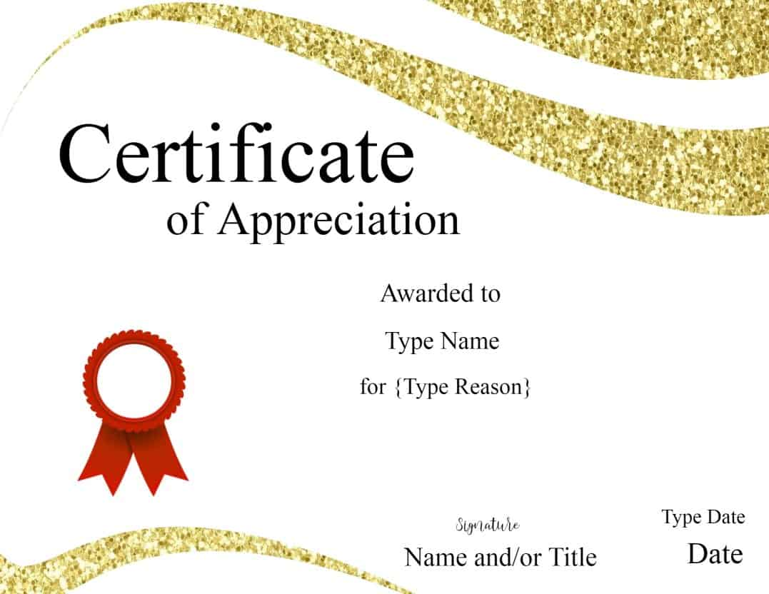 Certificate templates certificate of appreciation template xflitez Image collections