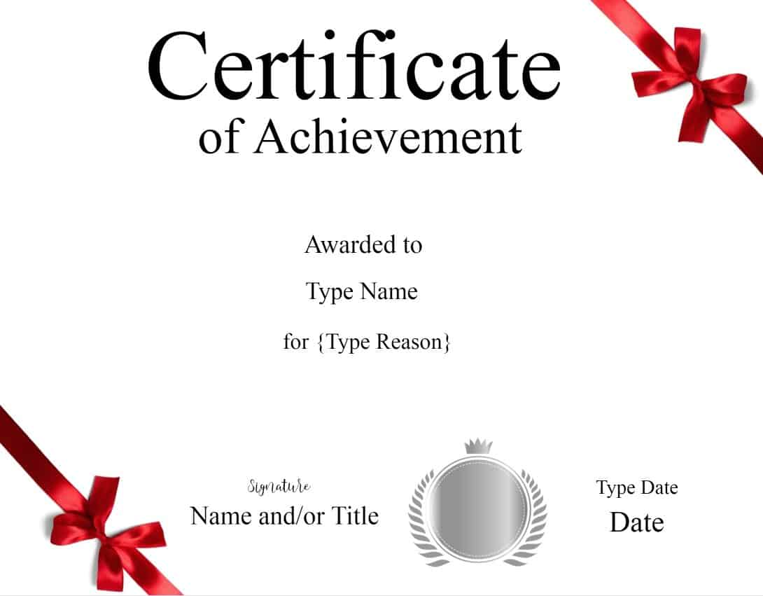 Certificate templates free templates for certificates 1betcityfo Choice Image