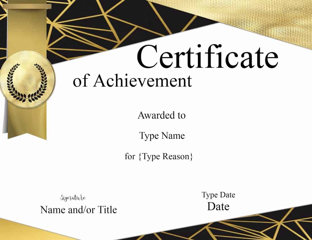 Certificate templates for Certificate design template