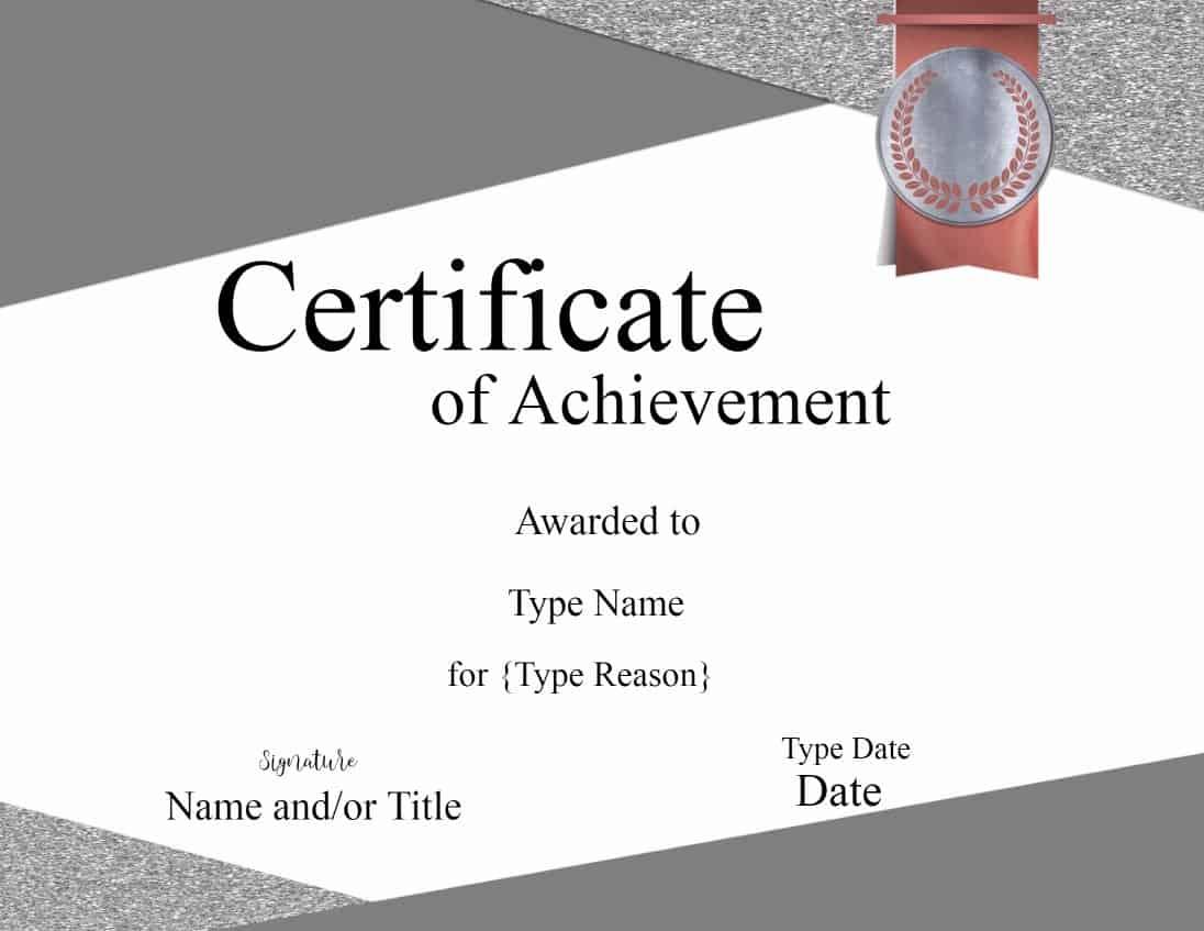 Certificate Award Templates  Certificate Award Template