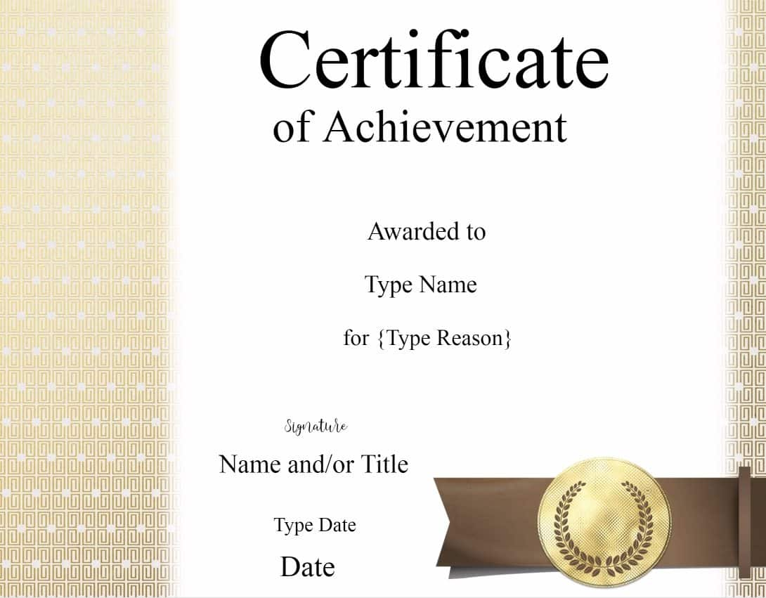 Certificate templates certificate of achievement xflitez Gallery