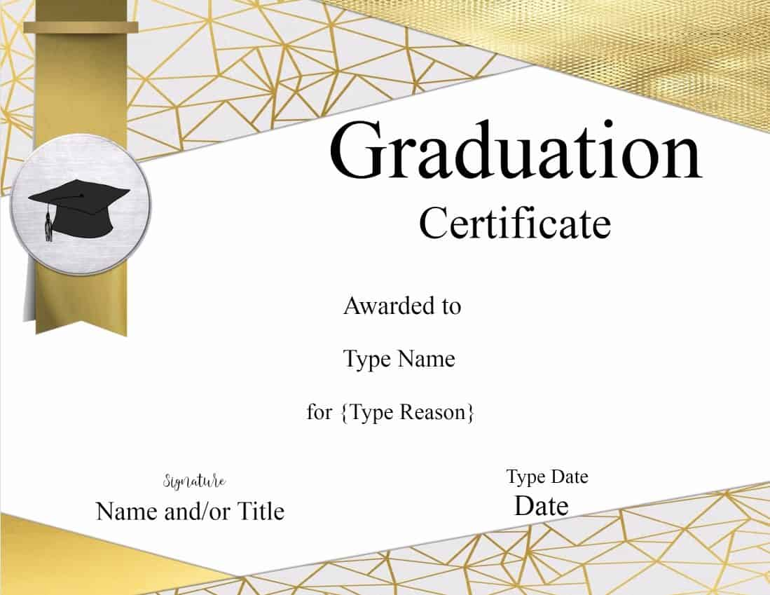 certificate for graduation  Graduation Certificate Template | Customize Online