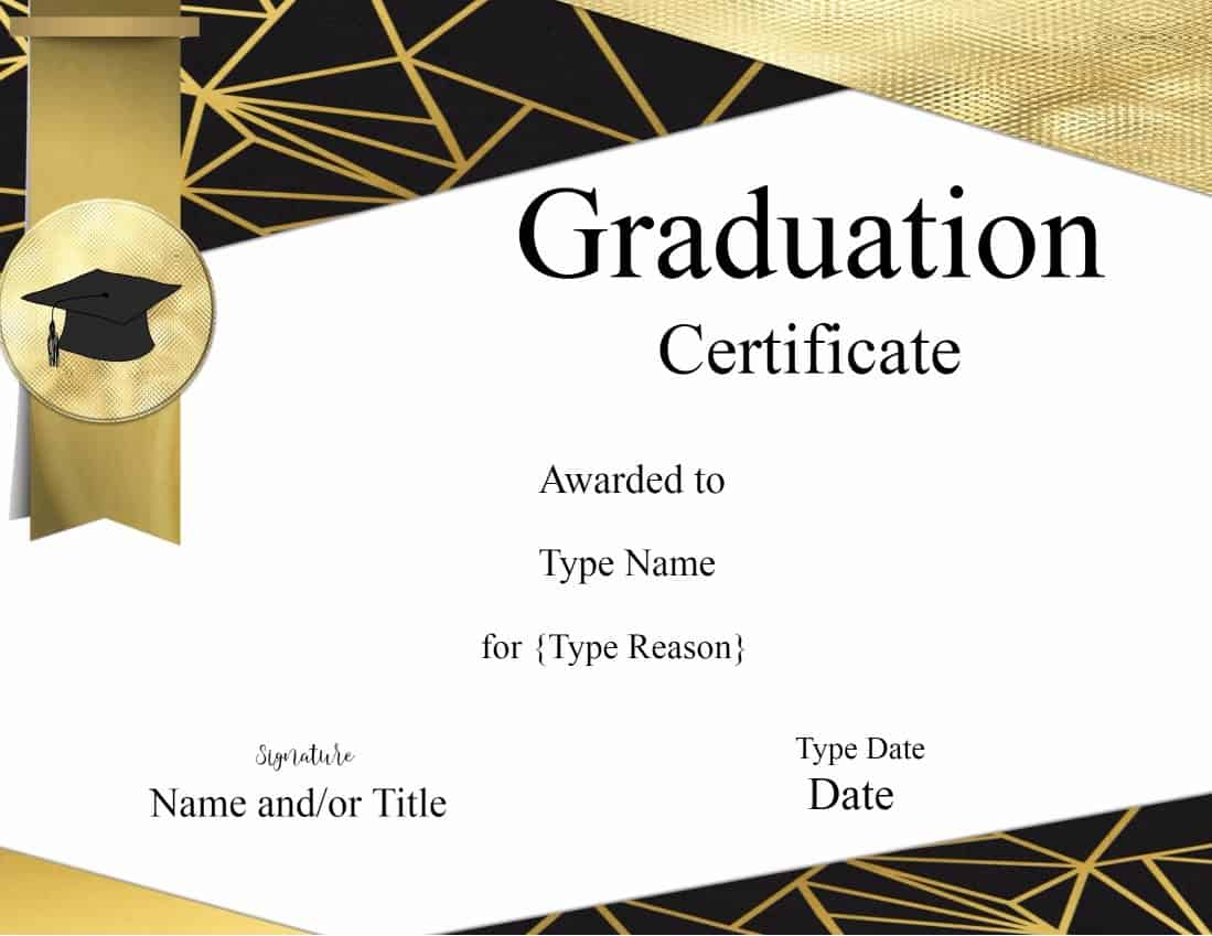 6th grade graduation certificate template - graduation certificate template customize online print