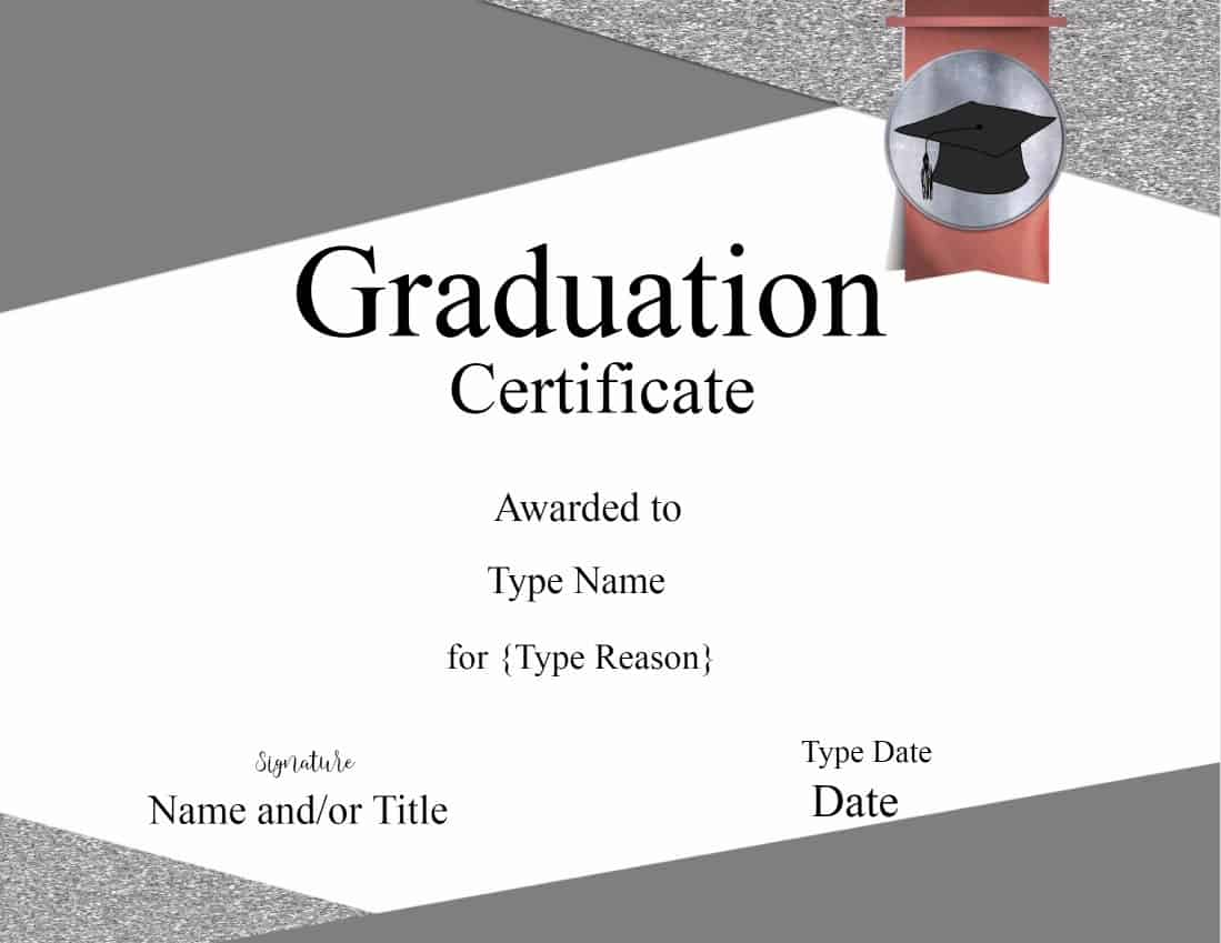 Graduation Certificate Template | Customize Online & Print