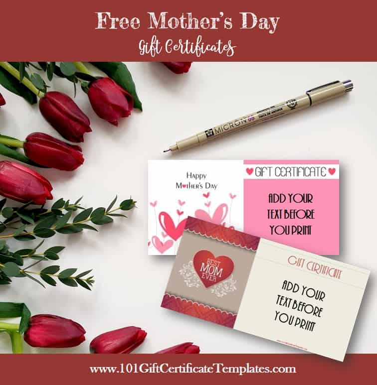 mothers-day gift certificate templates