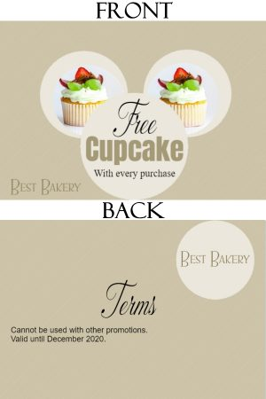 Two cupcakes but photos can be replaced