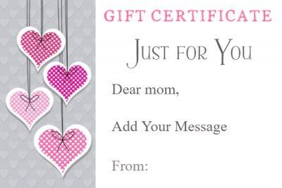 Mom Gift Certificate