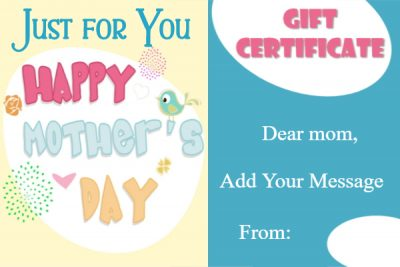 Free Mother's Day gift cards
