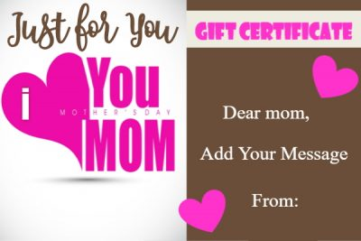 Mother's Day template printable
