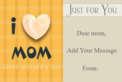 Mother's Day Gift Card Ideas