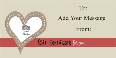 valentines gift certificate