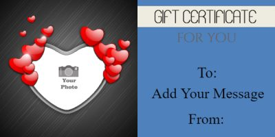 valentines day massage coupon template