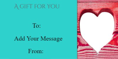 valentines day gift certificate