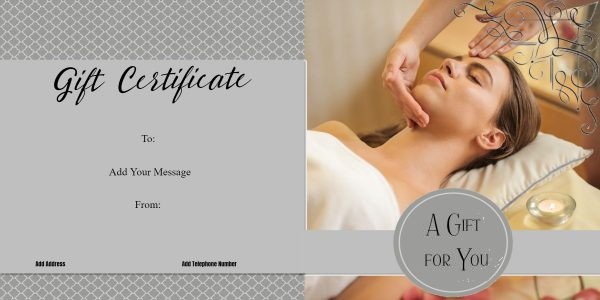 diy massage gift certificate template